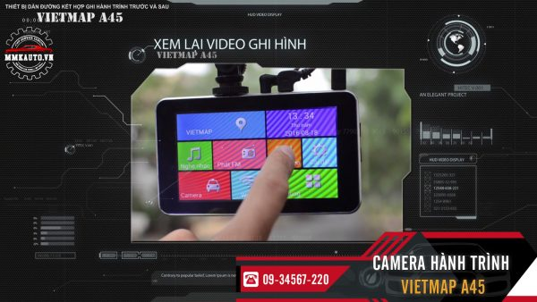 xem lai video camera vietmap a45