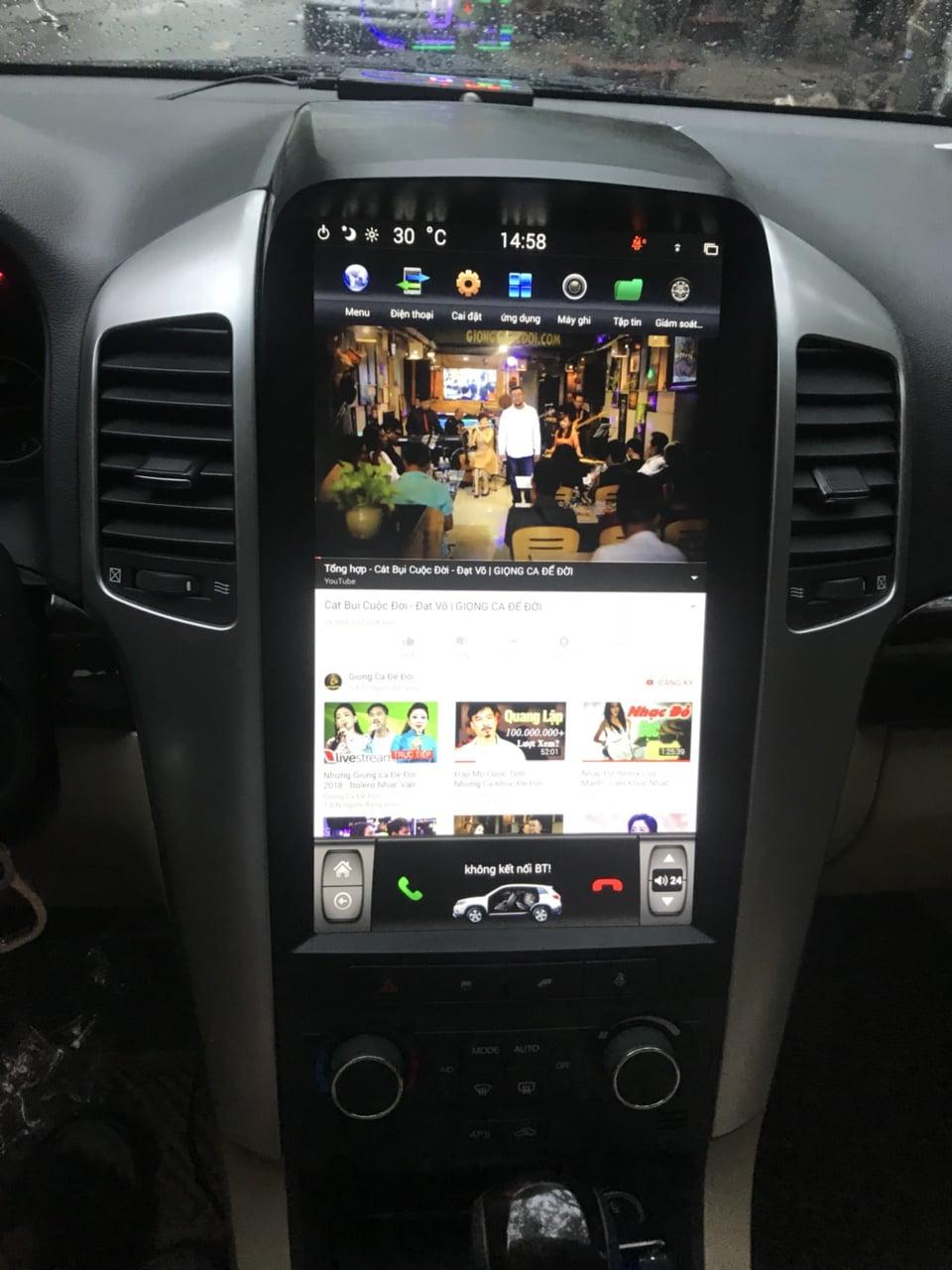 Màn hình dvd androi kiểu Tesla cho xe CaptiVa 2007 – 2010