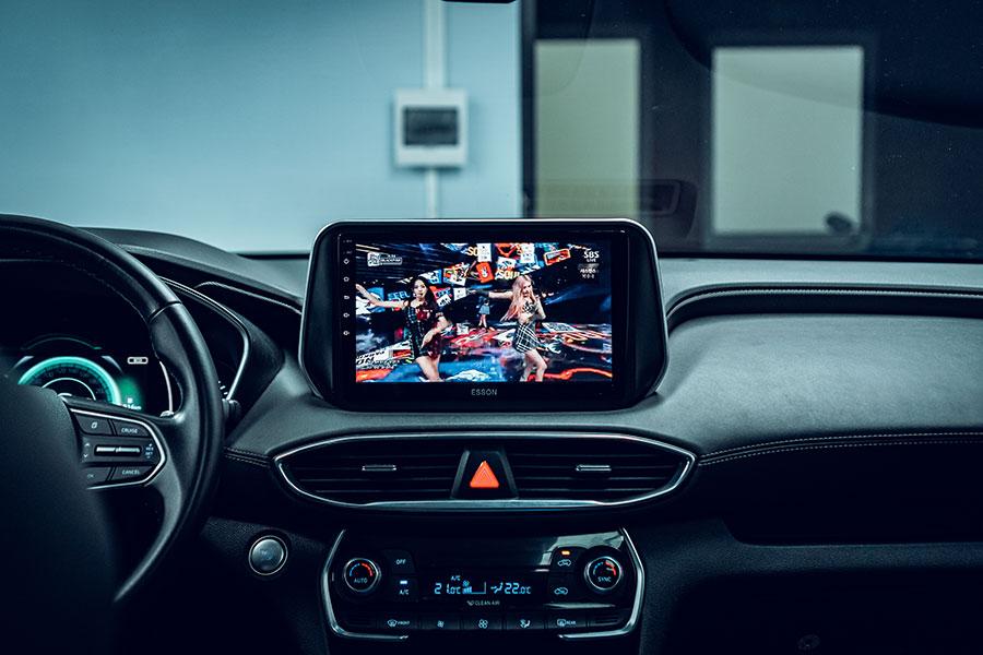 Nghe nhạc, xem Youtube trên màn hình dvd android Esson cho xe Hyundai santafe