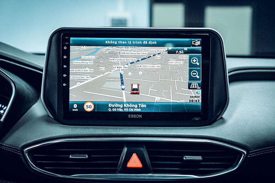 Chỉ đường thông mình trên màn hình Dvd cho xe Hyundai santafe