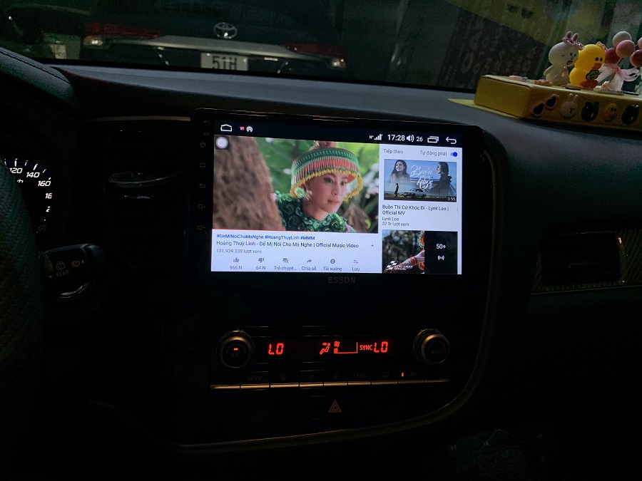 Màn hình DVD Android cho xe Outlander