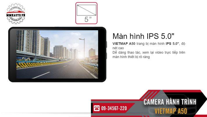 man hinh camera hanh trinh vietmap a50 ips 5 inch