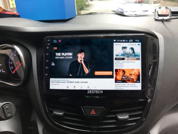 Kết nối giải trí đa phương tiện, nghe nhạc, lướt web, đọc báo trên màn hình android Vinfast Fadil
