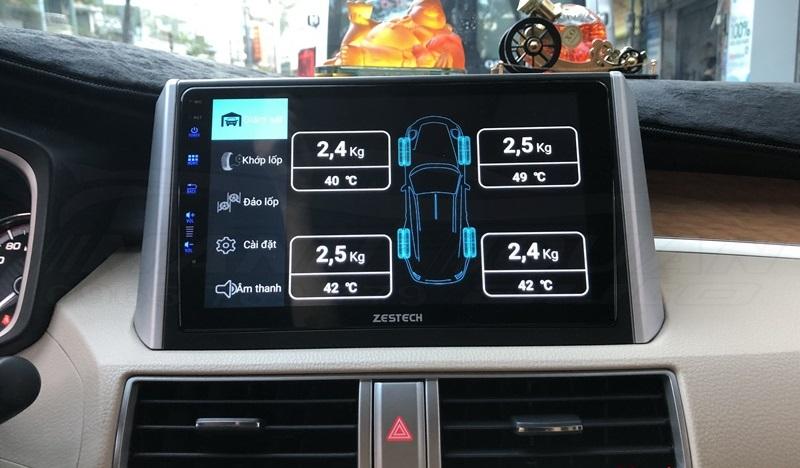 Tích hợp cảm biến áp suất lốp lên màn hình