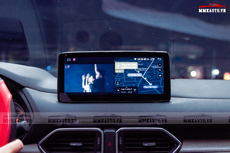Màn hình android Mazda CX8 mang lại rất nhiều tính năng hỗ trợ cao cấp