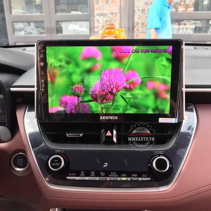 Màn hình DVD Android Toyota Corolla Cross kết nối sim 4 truy cập internet tốc độ cao