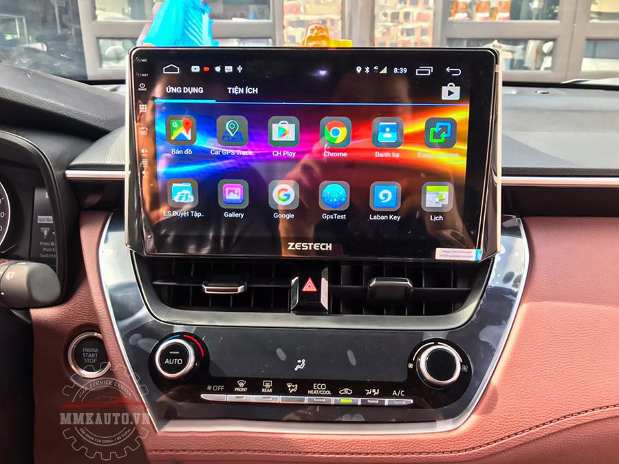 Màn hình DVD Android Toyota Corolla Cross kết nối, sử dụng để nghe gọi như một chiếc điện thoại