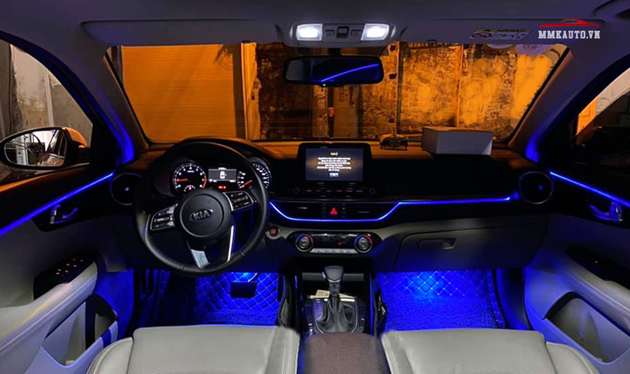 Đèn led viền nội thất ô tô tùy chỉnh 64 màu RGB
